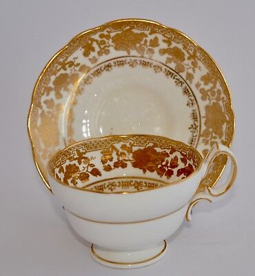 Pretty Antique HAMMERSLEY Tea Cup and Saucer - Golden Floral #14433