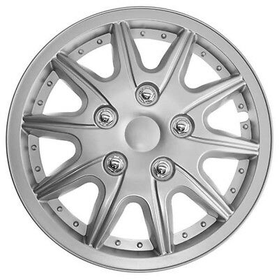 TopTech Revolution 13 Inch Wheel Trim Set Silver Set of 4 Hub Caps Covers