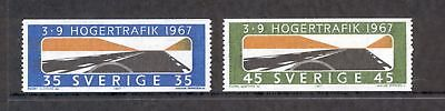Sweden  1967  Introduction of RH Driving, MNH.