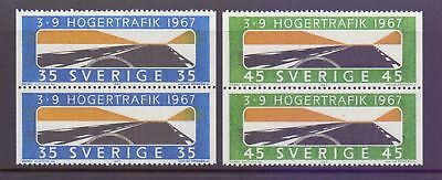 Sweden  1967  Introduction of RH Driving x 2, MNH.
