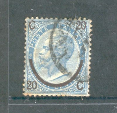 Italy  1865  Surcharge Type I, used.