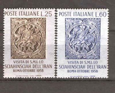 Italy - 1958 - Visit of the Shah , MNH.