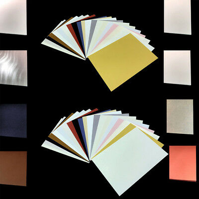 A4 Craft Paper & Card Shimmer Pearlescent Wedding Effects & Colours Mix & Match