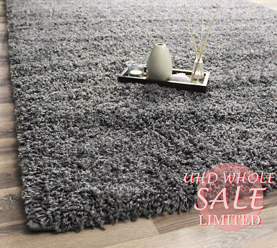 Shaggy Fluffy Grey Thick Non Shed Area Rugs Modern Dining Room Carpet Floor Mat