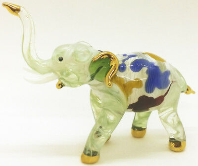 Elephant Blown Glass Art gifts Animals Figurines Hand Blowing Decor Collectibles