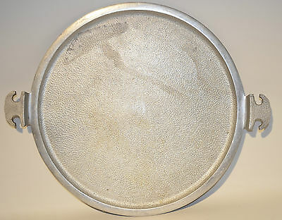 Vintage Guardian Service Cookware Large Round Serving Tray in Hammered Aluminum