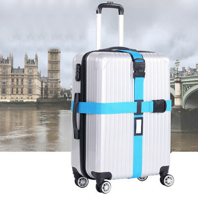 Travel Luggage Suitcase Cross Strap/Baggage Clasp With 3 Dial Lock NA