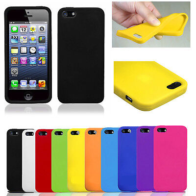 IPHONE 5/5s 6/6s 6/6s PLUS SOFT SILICONE RUBBER GEL CASE COVER SKIN PROTECTOR