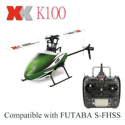 XK K100 Mini 2.4G 6 Channel Helicopter + Gyro RTF Version Ready-to-fly Version
