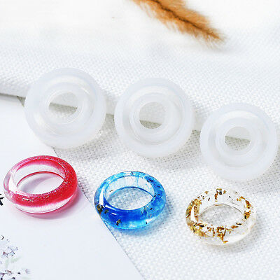 3pcs Assorted Sizes Silicone Ring Mold for Resin Epoxy Jewelry Making Craft