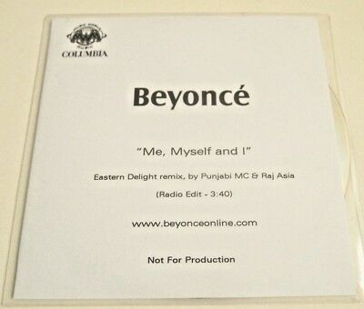 Beyonce Promo Cd Me Myself and I