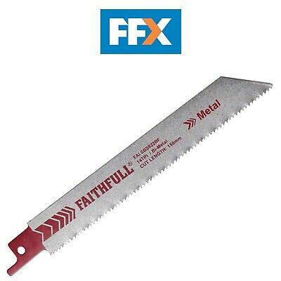 Faithfull Sabre Saw Blade Metal S918H Pack of 5 FAISBS918H
