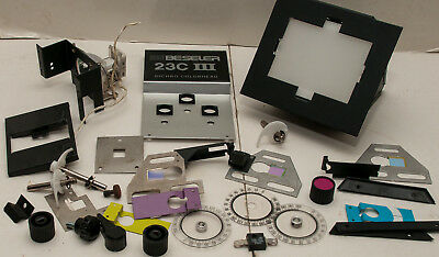 Box Lot Of 29 Beseler 23c III Dichro Colorhead Photo Enlarger Parts