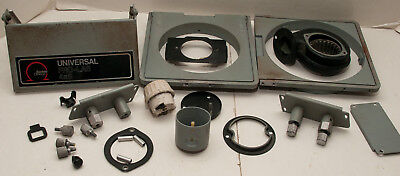 Box Lot Of 15 Omega Prolab 4x5 Universal Photo Enlarger Parts