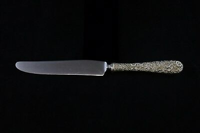 S Kirk & Son Repousse Sterling Silver Handle Dinner Knife - New French Blade