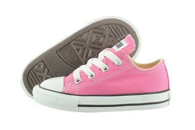 Converse All Star Chuck Taylor OX 7J238 Pink Canvas Shoes Medium Infant Toddler