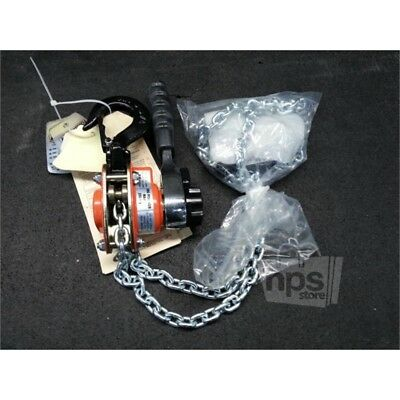 "CM 602 Mini Lever Ratchet Chain Hoist, 550lbs, 5ft Chain L, 6.3"" Handle L"