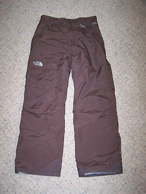The North Face Hyvent Girl's Large L Insulated Waterproof Ski Snow Pants Brown