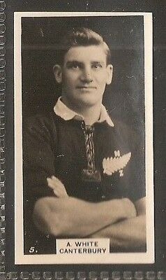 Wills Nz Issue-New Zealand Football Ers Rugby-#05- Caterbury - White