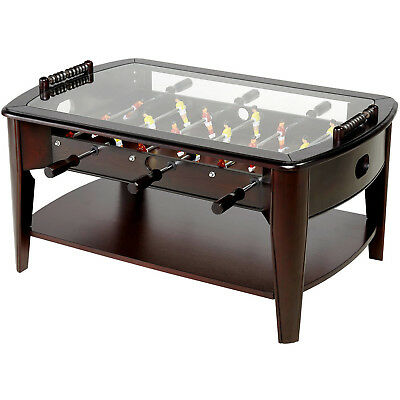 Wooden Foosball Coffee Table Home Soccer Game Sports Furniture Living Room Brown