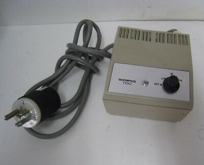 Olympus TD0 Lighting Power Source For Microscope Made in Japan 110-120V, Vintage