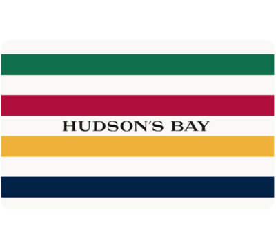 Hudson's Bay Gift Card $25, $50, or $100 - Fast email delivery