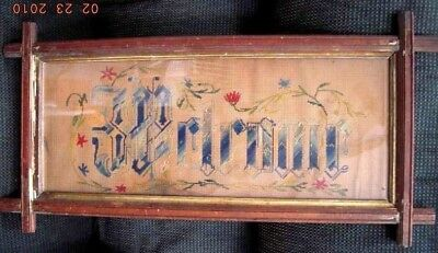 antique PAPER PUNCH PAPER SAMPLER victorian WELCOME