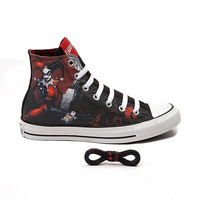 9c616ac8b029 NEW Converse HARLEY QUINN All Star Chuck Taylor Shoes Womens SUICIDE SQUAD  RARE