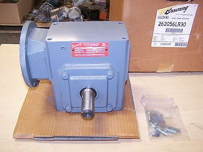 Browning 262Q56LR30 Right Angle Speed Reducer Gearbox 30:1 Ratio 1.48 HP 56C New