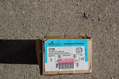 """(Lot of 5 each) 1 1/4"""" Liquid Tight Connector"""