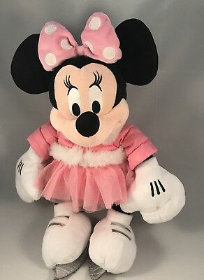 Disney Store 2011 Minnie Mouse Ice Skating Plush Soft Toy 45 cm 18 inches