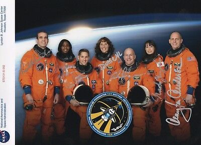 STS 131 Red Serial Number Crew Photo- Signed by all