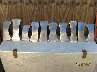 Vintage lot of 10 double bit axe heads, Kelly, Mann, Collins, etc.