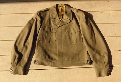 WWII US Army Military Ike Jacket Dress Uniform Size 42R Cutter Tags STUNNING