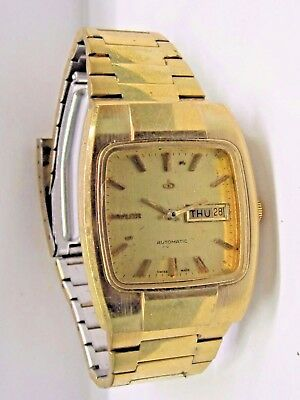 Vintage Baylor Gold Plated Wrist Watch Auto/day/ Date 17 Jewels