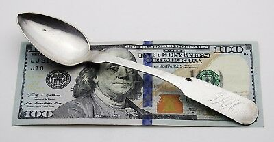 """Early Antique Signed H. Goodwin Coin Silver sterling Spoon 6 5/8"""""""