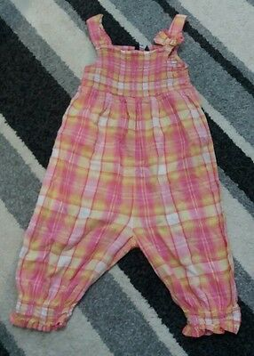 girls age 3-4 playsuit summer pink orange bow cute