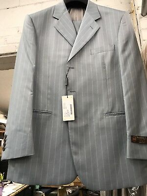 NEW 42R Light Men's Blue Suit Silk/Wool Made In Italy MAKE AN OFFER