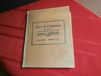 ANTIQUE 1919 HERR & Co LANCASTER PA HARDWARE CATALOG STOVES GUNS AUTO LANTERNS