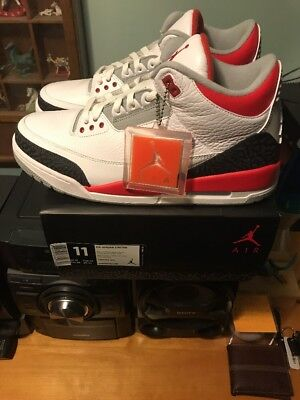 Nike Air Jordan Retro 3 III Fire Red Size 11 Quickstrike Ds!