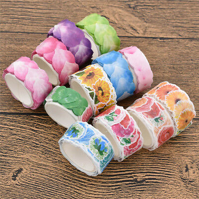 80pcs Flower Washi Tape Sticker Stationery Adhesive Labels Cover Decoration DIY