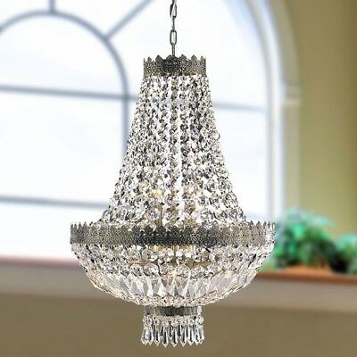Metro Candelabra 8-light Antique Bronze Finish And Clear Crystal Basket Medium