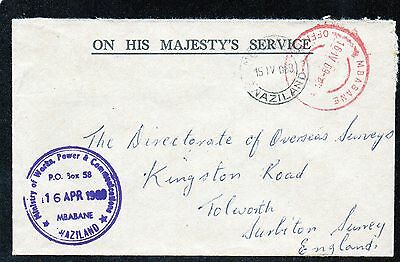 Swaziland : Directorate Of Overseas Surveys April 1969 Commercial Mail Envelope.