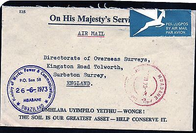 Swaziland : Directorate Of Overseas Surveys June 1973 Commercial Mail Envelope.