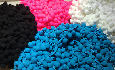 Size #4 LARGE POM POMS - By the meter - 4 Colours in Stock