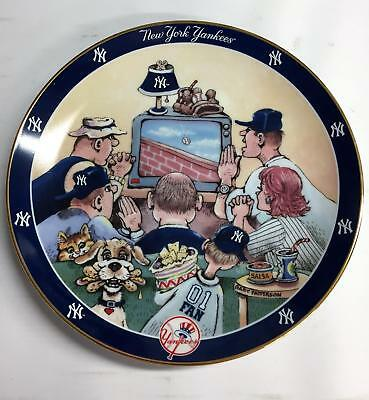 "NY YANKEES FAN ""Prayer Plate"" Danbury Mint - By Gary Patterson 8.25 x 8.25  #556"