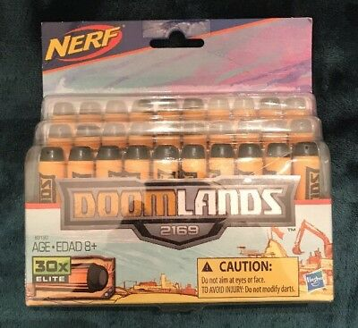 Official Nerf Doomlands 2169 30 Dart Refill Pack New bullets darts T4 .
