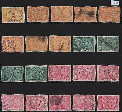 MOTON114    Lot . Jubilee stamps  Canada used