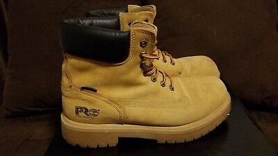Mens Timberland Pro Series Waterproof Thermolite Leather Work Boots Size 10M