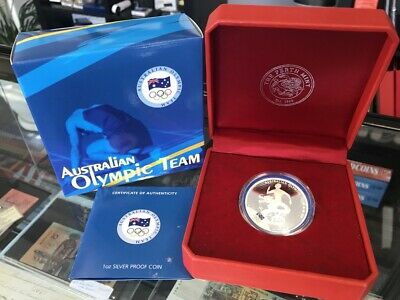 2008 Australian Olympic Team - Beijing $1 Silver .999 Proof Coin Perth Mint